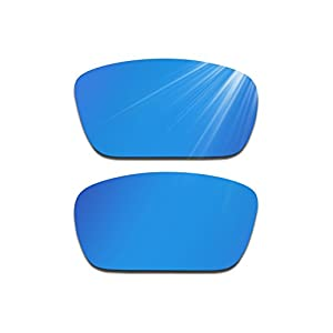 Glintbay Harden Coated Replacement Lenses for Oakley Fuel Cell Sunglasses - Polarized Deep Blue Mirror