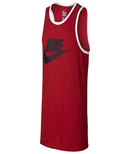 NIKE Men's Ace Logo Tank Top, University Red/Black/White 3X-Large