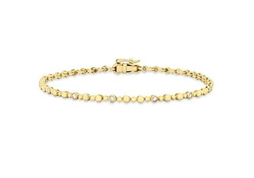 """Jewellery World Bague en or jaune 9carats Diamant 0,25ct Cercle Bracelet 18,5cm/18,4"""""""