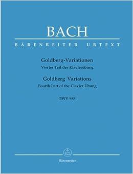 バッハ, J. S.: ゴールトベルク(ゴルトベルク)変奏曲 BWV 988/新バッハ全集版/ベーレンライター社/ピアノ・ソロ