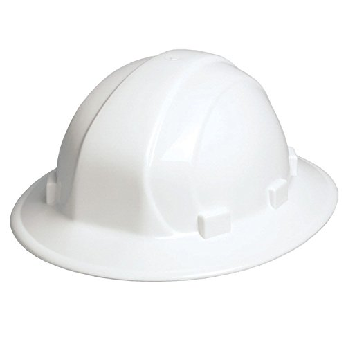 ERB 19911 Omega II Full Brim Hard Hat with Mega Ratchet, White by ERB (Image #1)