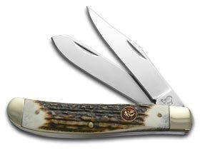 Hen and Rooster Deer Stag Trapper Pocket Knife ()