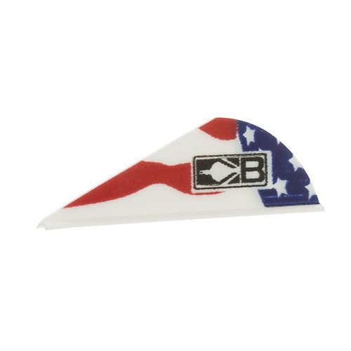 Bohning American Flag Blazer Vane (36 Pack) Bohning Blazer Broadhead Vanes