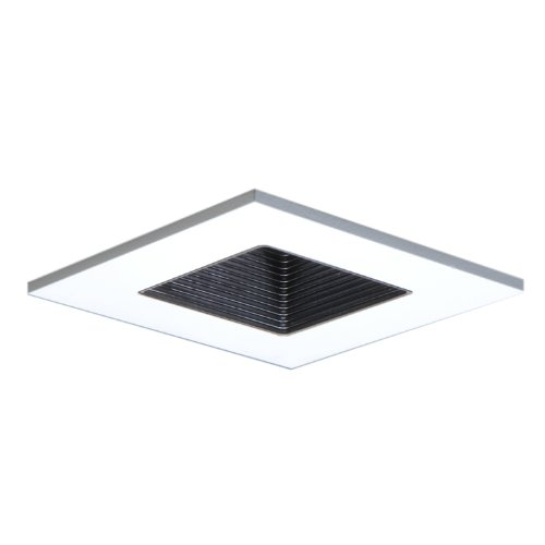 HALO Recessed 3011WHBB 3-Inch 15-Degree Trim Adjustable Square with Black Baffle, ()