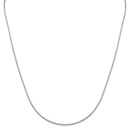 Lex & Lu Sterling Silver 1.25mm Mirror Box Chain Necklace-Prime