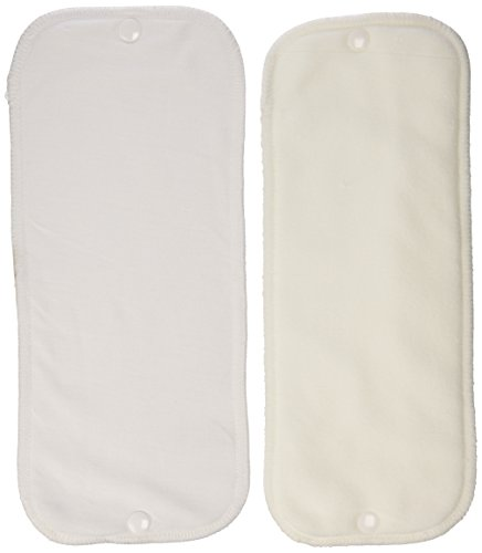 Thirsties Stay-Dry Duo Insert, White, Size One (6-18 lbs) - Hemp Prefold Diapers