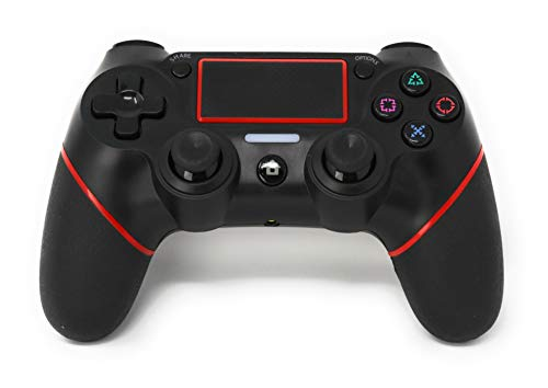 CHASDI C200 PS4 Controller Wireless Bluetooth with USB Cable for Sony Playstation 4 Joystick (Red)