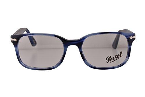 Persol PO3118V Eyeglasses 51-19-145 Striped Blue 943 PO 3118V (FRAME - Kate Glasses Moss