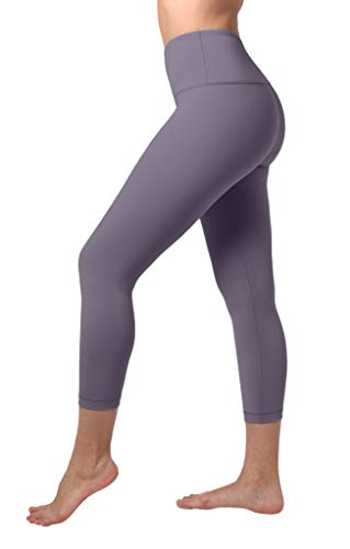 "90 Degree By Reflex High Waist Tummy Control 22"" Interlock Capri - Frosted Grape - XS"