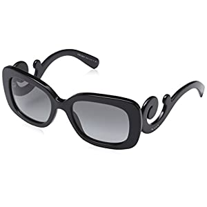 Prada Women's Baroque Square Sunglasses, Black