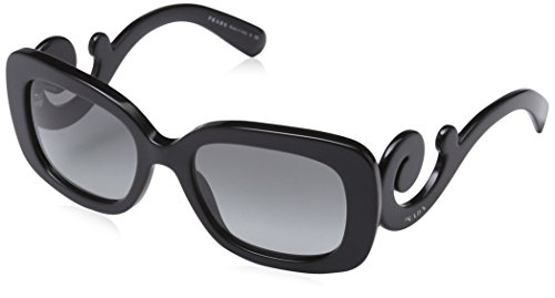 Prada Women's Baroque Square Sunglasses, Black (Sunglasses Prada)