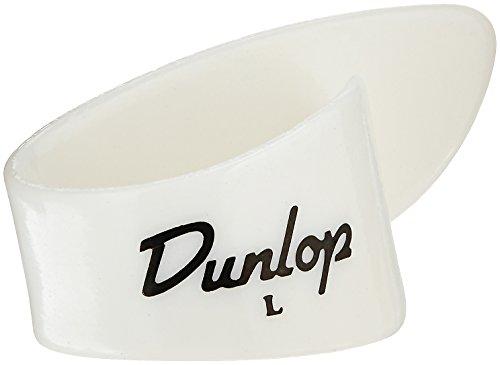Dunlop 9013R White Plastic Thumbpicks, Left Handed, Large, - Mens Dunlop Bag