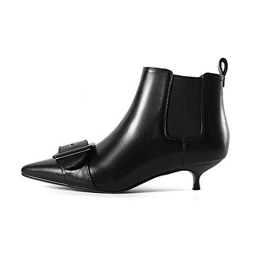 Talons Courtes Bottines Black à Pointus Stiletto pour Femme qEOOrAx