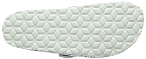 grau Clog Donna Lico Zoccoli weiss blanc Bianco Bioline Print 4UqUwp8