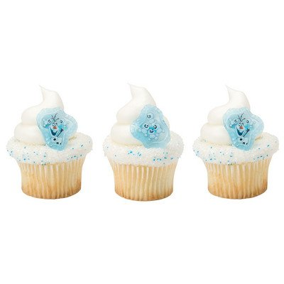Frozen Fever Blizzard Buddy Olaf Cupcake Rings - 24 -