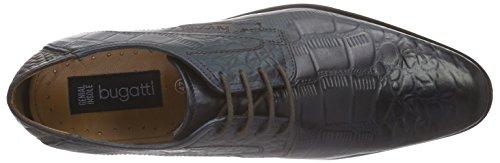 Bugatti 311156011118 - Zapatos Derby Hombre Azul - Blau (d.blau 4100)