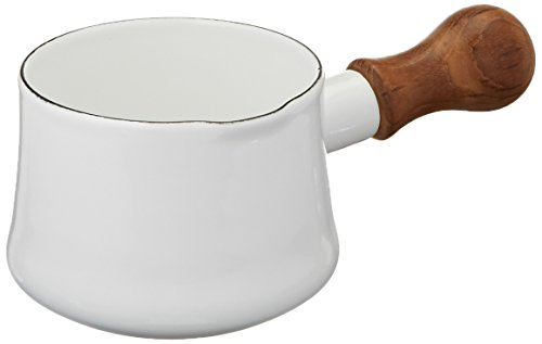 Enamel Milk Pot (Dansk Kobenstyle Butter Warmer, White)