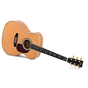 Western-Gitarre Sigma OMA-40E-AN, mit Tonabnehmer und EQ,flamed Maple Top