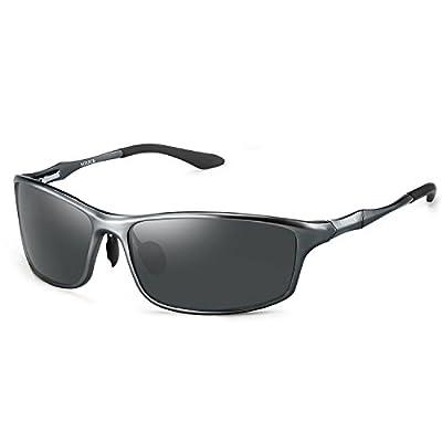 Soxick Polarized Sports Sunglasses For Men UV400 Metal Men's Fashion Retro Wayfarer Driving Sunglasses
