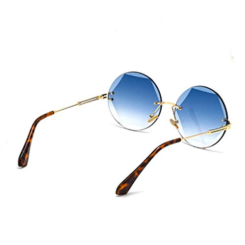 ... Dames Lentille Accessoires de Fashion Lunettes pour Conduire pour  colorée Lunettes Shopping de UV400 Polygon Blue ... f7493b918cc9