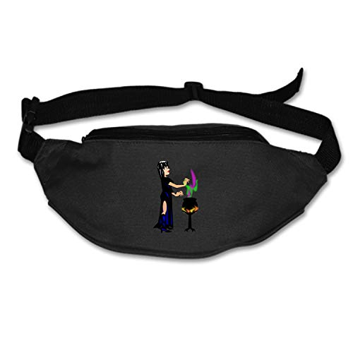 Myfa Fashion Potion Cauldron Halloween Spell Witch Witchcraft Fanny Bag Black Female/Male Adjusted Belt Bag Ladies Casual Waist -
