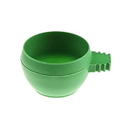 Tangc Mini Parrot Food Water Bowl Feeder Plastic Pigeons Birds Cage Sand Cup Feeding from Tangc
