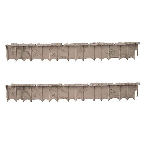 (Suncast Quick Edge 35 Inch Single Strip Resin Lawn Edging, Flagstone (2 Pack))