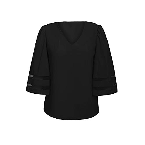 Longues Manches Sunnywill Haut T Manches Shirt Femme Noir Sweat V Femme col qnUR0YUZa