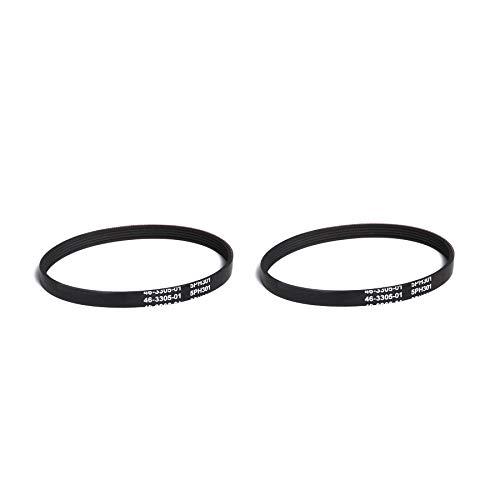 (TVP Vacuum Parts & Accessories Models CB-6 CB6 2pk Belts Fit Powerhead Canister Vacuums Part # 20-5201)