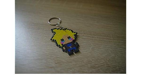 Llavero Cloud - Final Fantasy/Hama beads - Pixel art: Amazon ...