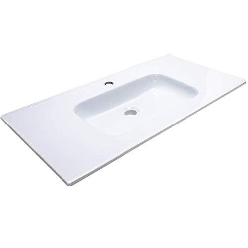 Inconnu Autre - Lavabo ceramique Simple Vasque Blanc a Poser 90 cm 1 bac Salle de Bain