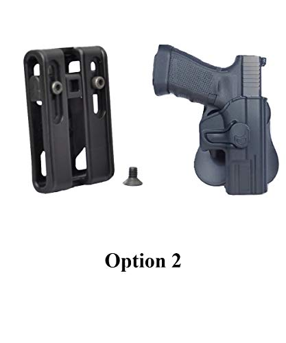 Tactical Scorpion Gear Modular Level II Retention Paddle Holster: fits Taurus Millennium G2 PT111 PT132 PT138 PT140 PT145 PT745 G2c - Option ()