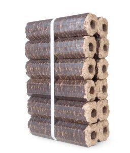 12 Hardwood Premium Eco Wooden Heat Logs Pack Fuel for Firewood Open Fires Stoves Log Burner Chiminea Pizza Oven Fire Pit Barbeque reservoir logs