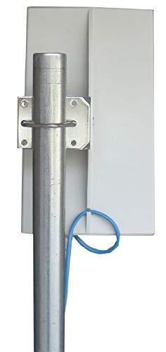 EZ-Bridge-LT5+ HD 100MB, 5GHz 802.11an Pt/Pt Secure Bridge Pair, Shield Outdr 75' CAT5 Cables + Surge Prot 24V PoE Ins, Plug n Play, 25dBm Out + 14dB Ant, 3mi Range, Wall/Pole(1-2'') Mt Brckts, 4W Pwr