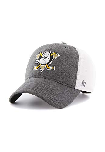 '47 Gorra Brand – NHL Anaheim Ducks MVP Ajustable Trucker Haskell carbón/Blanco