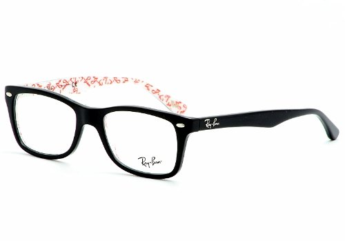 Ray-Ban 'RX 5228 5014' Black Logo Print Eyeglass Frames 53 - Logos Ray Ban