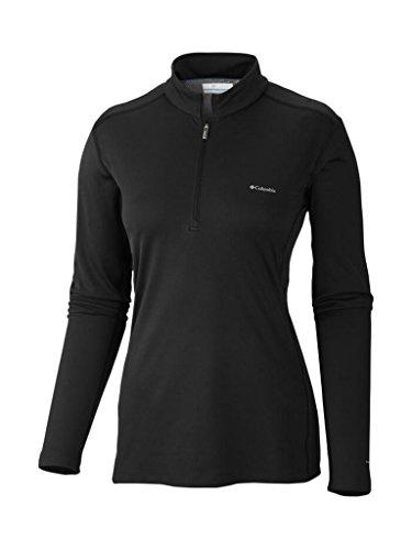 (Columbia WOMENÕS Midweight Baselayer Long Sleeve Half Zip Shirt Black)
