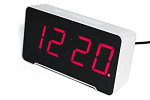 Sandman 4 Port USB Charging Alarm Clock (White)