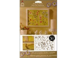 - FolkArt Easy to Paint, 5200 Rub-On-Wildflowers