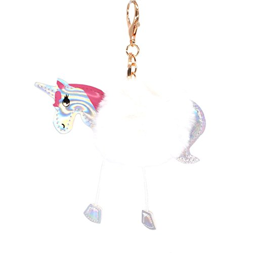 Pony White Key Ring - 2