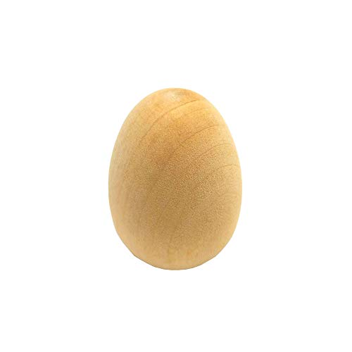 Unpainted Wooden Eggs - for Easter, Crafts and More - 2-1/2 x 1-3/4 - Bag of 6 - by ANSTER
