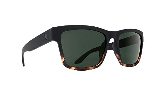 Spy Haight 2 Sunglasses Matte Black Tort Fade with Happy Grey Green Lens + ()