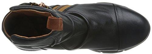 Mulheres Preto De Não Botina Couro Tornozelo Sapatos Americana Das Marca 8WOnzg