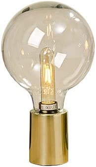 Lámpara de Mesa Bombilla con Base Dorada A33cm Aluminio Dorado max. 40W, 1xE27, Longitud Cable 250cm: Amazon.es: Iluminación