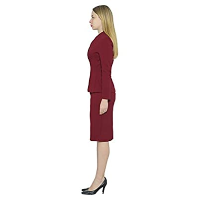 Marycrafts Women's Formal Office Business Work Jacket Skirt Suit Set: Clothing