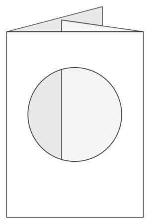 Craftcreations Pack of 5 Double Fold Large Cards/Envelopes Circle Aperture, Linen White