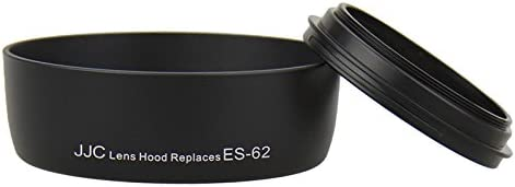JJC LH-62 Lens Hood Shade For Canon EF 50mm f//1.8 EF 50mm f//1.8 II Replaces Canon ES-62