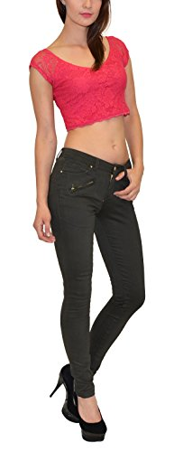 Pantalon H41 pour H41 4 slim en femme kaki pour skinny femmes couloeurs pantalon Panatalon femme OxBTqt