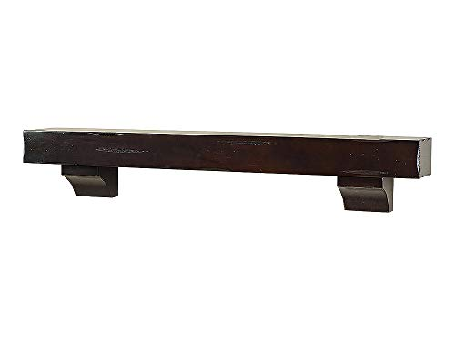 Breckenridge 60quot Inch Fireplace Mantel Shelf  Espresso Distressed