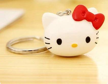 Amazon.com : Key Chains - Cute Hello Kitty Keychain Bow Key ...